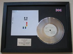 "COLDPLAY - Talk 7"" Platinum Disc with Cover"
